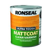 RONSEAL ULTRA TOUGH MATTCOAT CLEAR VARNISH 750 ML