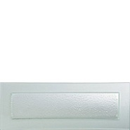 Gobi Plate Rect Frost Edge 490mm x 180mm Carton of 6