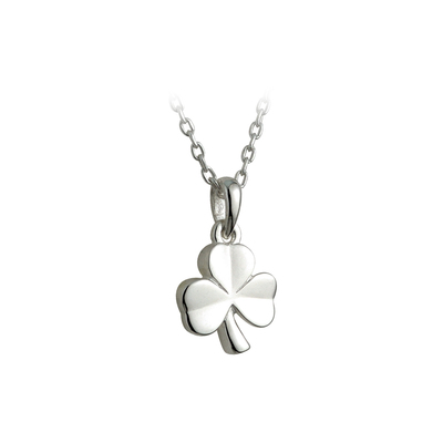 STERLING SILVER KIDS SHAMROCK PENDANT(BOXED)