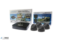 C2Max 8CH 1TB DVR and 4 x  Fixed IR Black Dome Cameras with cable and PSU
