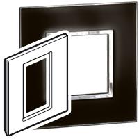 Arteor (British Standard) 3 Modules 1 Gang Square Mirror Black| LV0501.2685