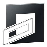 Arteor (British Standard) Plate 8 Module Square Graphite | LV0501.0159