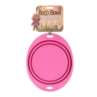 Beco Silicone Collapsible Trave Bowl - Large Pink x 1