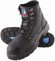 Steel Blue Argyle Lace Up 150mm Safety Boot With Scuff Cap Black