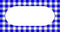 Navy Check Label