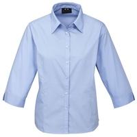 Ladies Base 3/4 Sleeve Polycotton Shirt