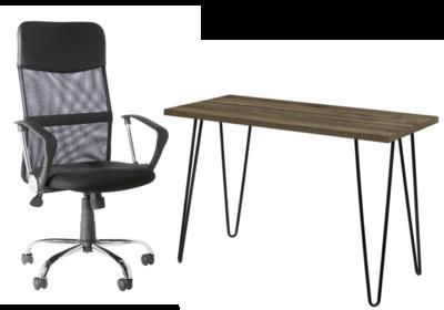 Owen Retro Desk Walnut with Orlando Chair