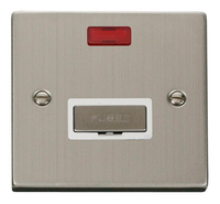 Click Deco Victorian Stainless Steel with White Insert Fused Spur with Neon | LV0101.0111