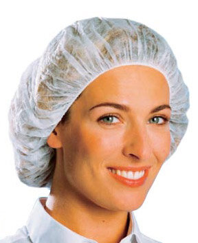 Pleated Mob Cap with Single Elastic (Pack of 100)