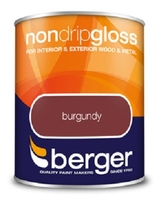 BERGER NON-DRIP GLOSS PAINT BURGUNDY 750 ML