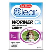 Bob Martin Clear 3 in 1 Wormer - Large Dog 4 Tab x 1