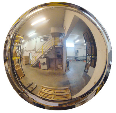 Polymir unbreakable half-sphere 180 degree industrial dome mirrors for wall mounting