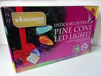 KINGFISHER 80 MULTI COLOUR LED PINE CONES LIGHTS