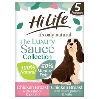 HiLife 'ION' Dog Pouch The Sauce Selection 5pk x 3