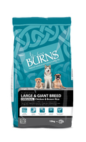 Burns Adult Large & Giant Breed Dog - Chicken & Brown Rice 15kg