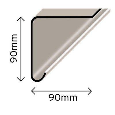 Cromar Pro GRP Trim Fascia / Drip Edge 90x90mm 3Mtr