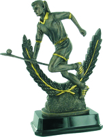 22.5cm Camogie Player & Wreath - Bronze/Gold