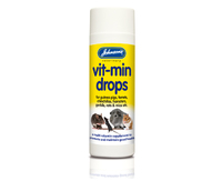 Johnson's Vit-Min Drops - Hamsters Guinea Pigs & Gerbils 100ml x 6