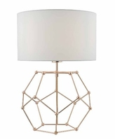 Coen Table Lamp, Copper wih White Cotton Shade | LV1802.0123