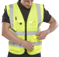 BSEEN Hi Vis Executive Vest EN471 Yellow