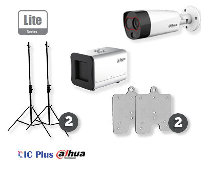 Dahua 2 Series BTM Kit - Thermal Camera (TPC-BF2221P-HTM) and Black Body (TPC-HBB-CHW) with Tripods and Adapters