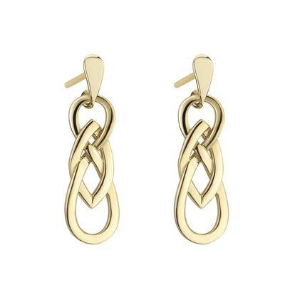 9K GOLD CELTIC TWIST EARRINGS