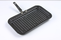 Black Enamel 40cm Grill Pan