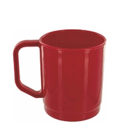 Plastic 275ml Mug Red