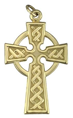 14K CELTIC CROSS 15MM