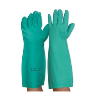 Nitrile Chemical Gauntlet Glove Green 45cm