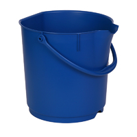 Detectable Foodgrade Production Bucket - 15 Ltr, Blue