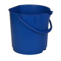 Detectable Foodgrade Production Bucket - 15 Ltr, Blue