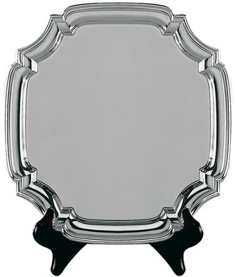 22cm Swatkins Heavy Square Nickel Plated Tray