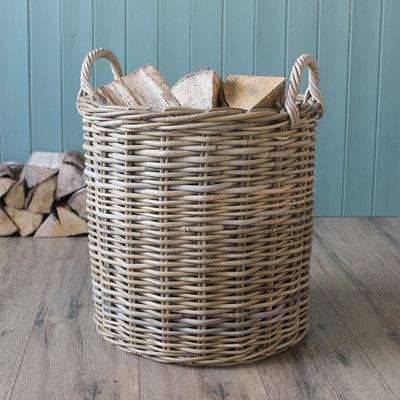 Set of 3 Round Kubu Baskets
