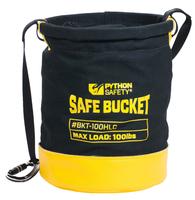 Python Standard safe bucket, load rating 45.4 kg (100 lbs), Drawstring, Canvas, 30L
