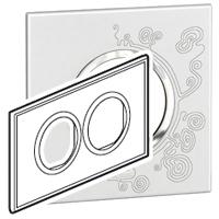 Arteor (British Standard) Plate 2x2 Module 2 Gang Round Tattoo | LV0501.0152