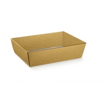 TRAY GOLD BUBBLE W/PVC LID 320X110X95MM