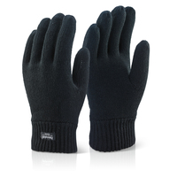 Black Thinsulate Winter Lined Gloves