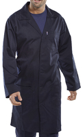 Navy PolyCotton Warehouse Coat
