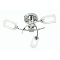 Ofira 3 Light Ceiling Fitting Chrome