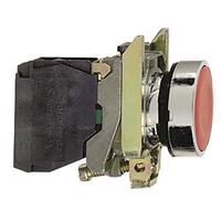 Telemecanique Red Flush Pushbutton 1NC Contact