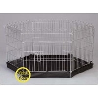 Henry Wag 6-Sided Wire Pet Play Pen with Base 76 x 63cm x 1