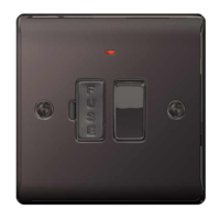NEXUS BLACK NICKEL 13A FUSED CONNECTION UNIT SWITCHED WITH INDICATOR