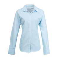Ladies Premier Long Sleeve Blouse Light Blue