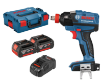 Bosch GDX18V-EC 18V Brushless 1/2'' Impact Wrench/Driver 185nm 2 in 1 Bare Unit C/W 2 x 5.0Ah Li-ion Batteries & Charger In L-boxx (Ploughing Special Discount Price)