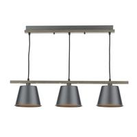 Arken 3Light Pendant Grey Distressed Wood 3 X E14 | LV1802.0008