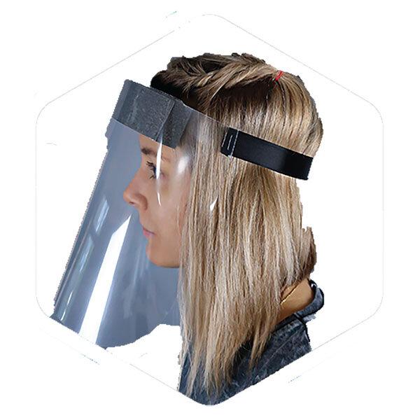 Easivise+ Full Face Protective Visor Screen 33x23cm Head Band Fits 54-64cm