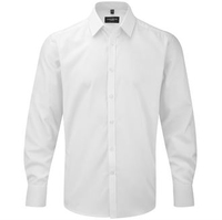 Russell Gents Long Sleeve Herringbone Shirt