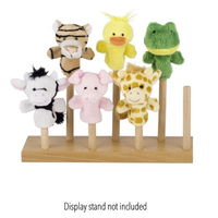 Animals Finger Puppets displayed on a stand