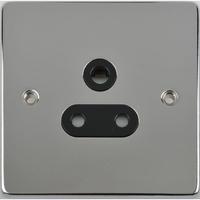 Schneider Ultimate Low Profile 5Amp socket Polished Chrome with Black Insert | LV0701.0066